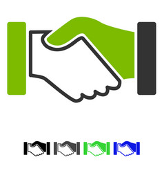 acquisition handshake flat icon vector image