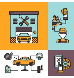 Auto Service Concept vector image