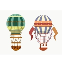 Balloon with hot air for traveling transport vector