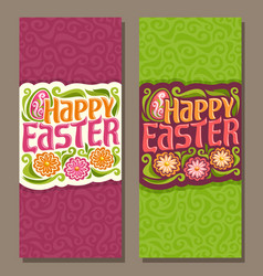 Banners for happy easter vector