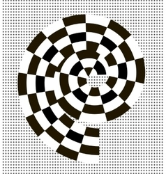Black and white abstract spiral vector