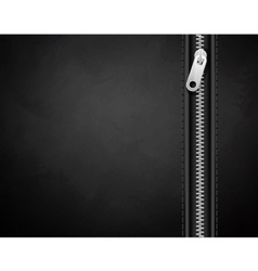 Black background made leather with a lock vector