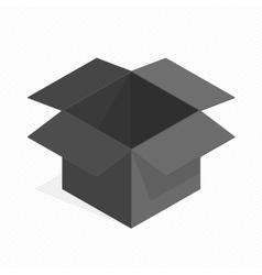 Black square cardboard box vector