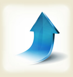 blue arrow rising up for business infographics vector image