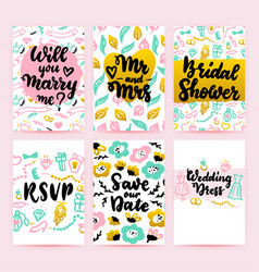 bridal shower greeting posters vector image