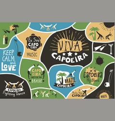 capoeira brazil poster vector image