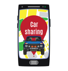 Car sharing service concept flat vector
