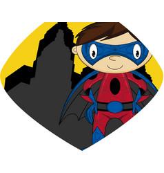Cartoon heroic superhero character vector