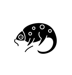chameleon black icon sign on isolated vector image