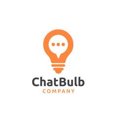 Chat bulb logo design vector
