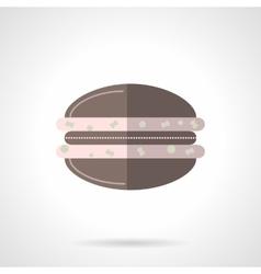 Chocolate macaroon flat color design icon vector