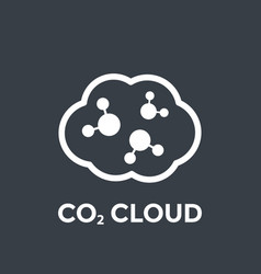 Co2 cloud vector