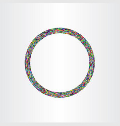 colorful circle ring element vector image