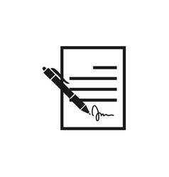 contract sign icon design template isolated vector image