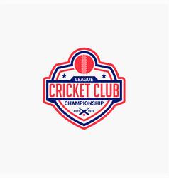 Cricket club badge logo-6 vector