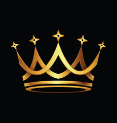 Crown gold icon vector