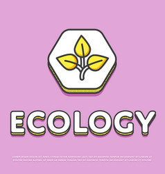 Ecology colour icon in line design vector