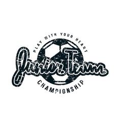 Emblem of soccer junior team vector