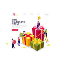 fir website decoration for winter vector image