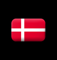 flag of denmark matted icon and button vector image