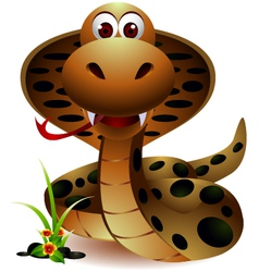 funny snake cartoon vector image