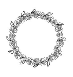 Hand drawn wreath floral design vector