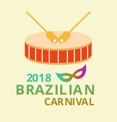 happy brazilian carnival day carnival circus vector image