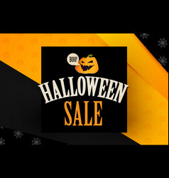 happy halloween sale design template with smilling vector image