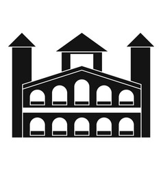 Historical building icon simple style vector
