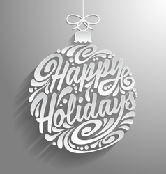 Holidays greeting card vector image