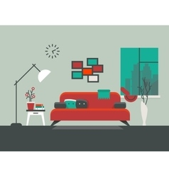 Home interior of living room vector image