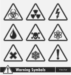 Icon set of warning symbols vector