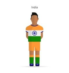 India football player Soccer uniform vector image