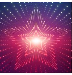 Infinite star tunnel shining vector
