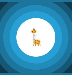 Isolated giraffe flat icon toy element can vector