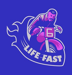 Life Fast vector image