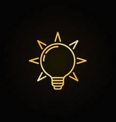 Light bulb colorful icon vector