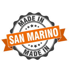 Made in san marino round seal vector