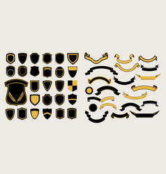 mega a set of templates chevrons and ribbons for vector image vector image