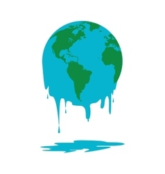 Melting world icon vector
