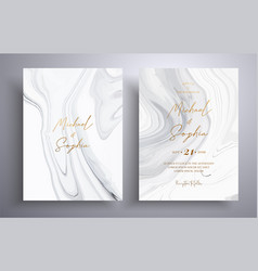 Modern collection wedding invitations vector