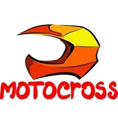 Motocross helmet vector image
