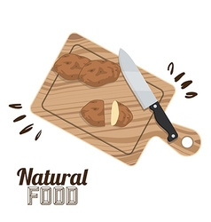Natural food design vector image