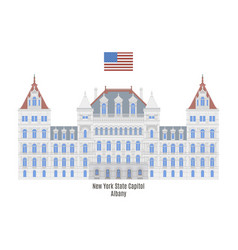 New york state capitol vector