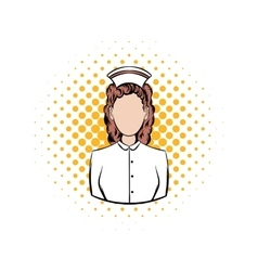 Nurse comics icon vector image