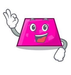Okay trapezoid character cartoon style vector