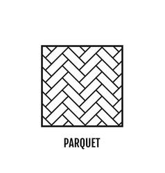 Parquet flooring flat icon object vector