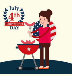 people american independence day vector image