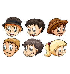 People with different emotions vector image
