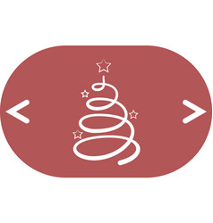 pictograph of christmas tree vector image